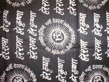 Hey Ram Om Neck Scarf Shawl Buddhism 32 x 76 Black