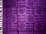 Hey Ram Om Neck Scarf Shawl Buddhism 32 x 76  Purple