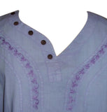 SALE Lovely Lavender Blue Blouse Top Shirt Womans M/L