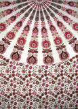 "Sanganeer Mandala Cotton tablecloth 96"" x 62"" Pink"