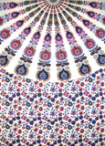 "Sanganeer Mandala Cotton tablecloth 96"" x 62"" Blue"