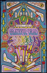 "Grateful Dead Pinball Machine Cotton Wall Hanging 90"" x 60"" Single Multi Color"