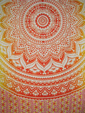 "Mandala Indian Tapestry Cotton Bedspread 96"" x 84"" Full Red"