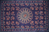 "Celestial Tapestry Cotton Bedspread 106"" x 70"" Twin Blue"