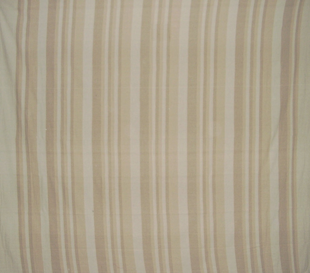 "Heavy Cotton Ribbed Bedspread  98"" x 88"" Tan on Beige"