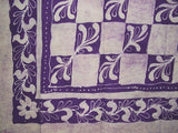 "Patchwork Batik Tapestry Cotton Spread 108"" x 88"" Full-Queen Purple"