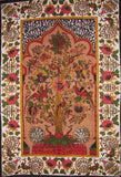 "Tree of Life Peacock Tapestry Cotton Wall Hanging 88"" x 60"" Single Multi Color"