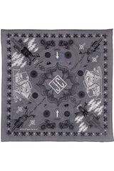Zest For Life Christian Biker Bandana Handkerchief 22 X 22 inches Grey