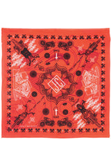 Zest For Life Christian Biker Bandana Handkerchief 22 X 22 inches Orange