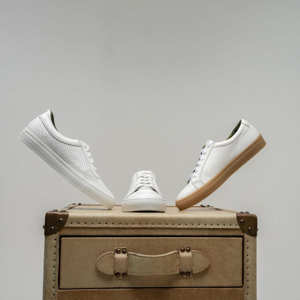 Inkerman White Leather Sneakers