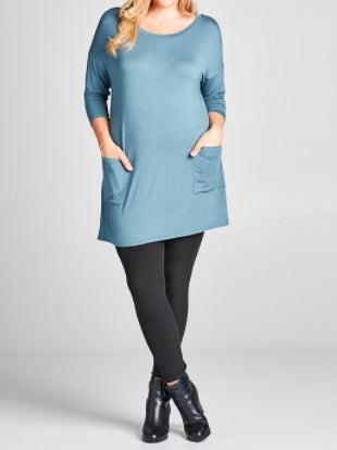 Back Button Tunic