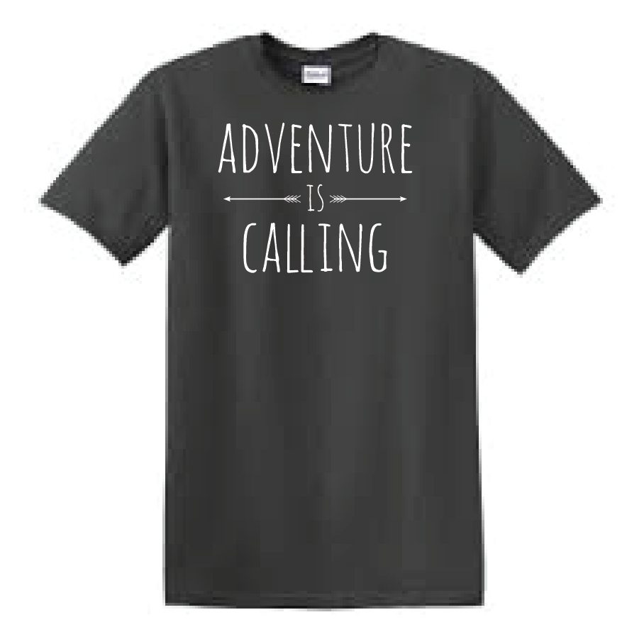 Adventure is calling! Are you always up for an adventure? Then you will love this unisex tee.