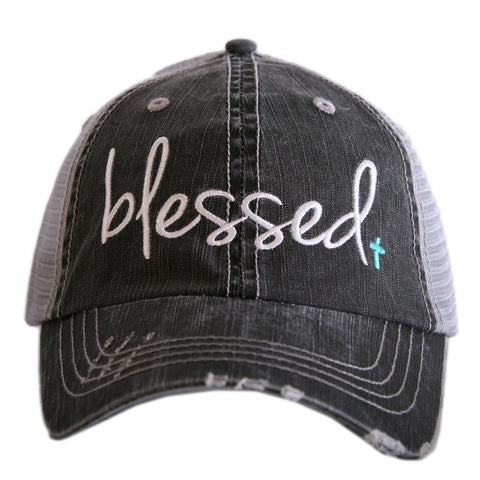 Blessed distressed hat