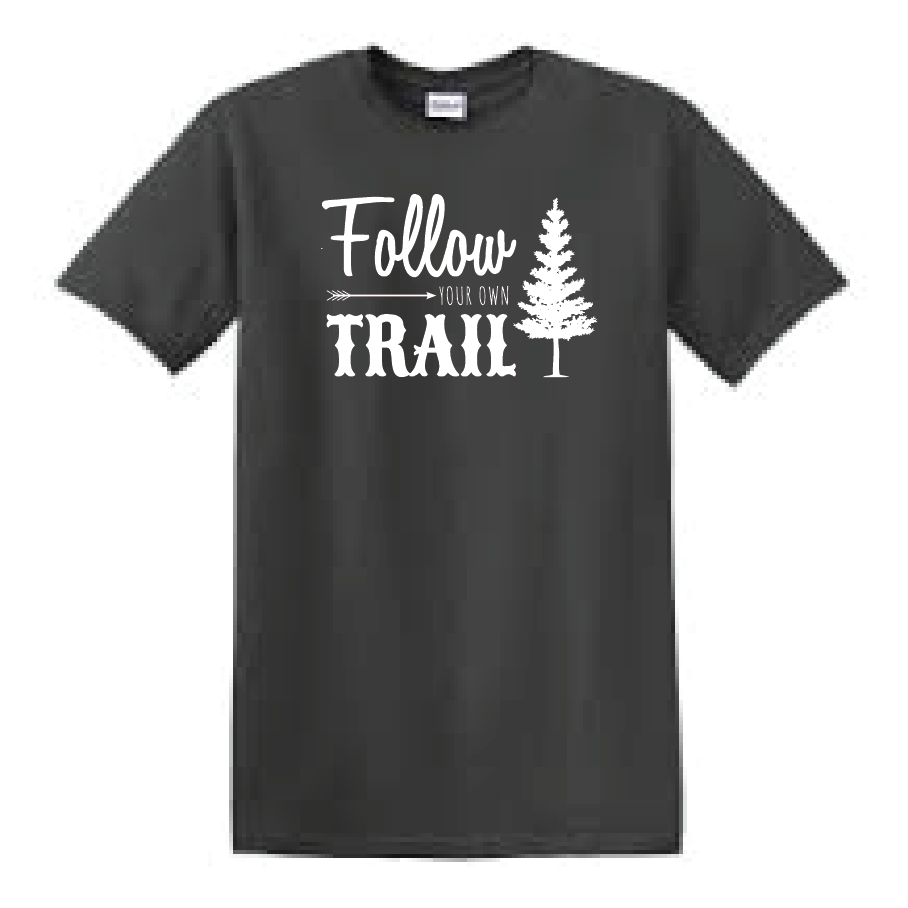 Women's follow your own trail in a unisex tee. Do you ride? Whether you are riding horses, motorcycles, bicycles, atv's or utv's this is the perfect tank to wear!    *Free Shipping