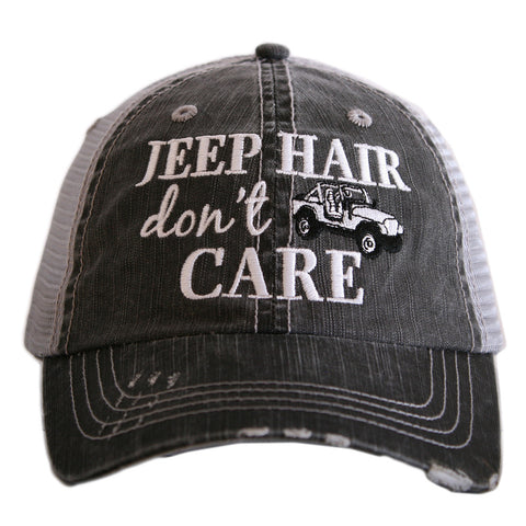 Jeep Hair don't care distressed hat