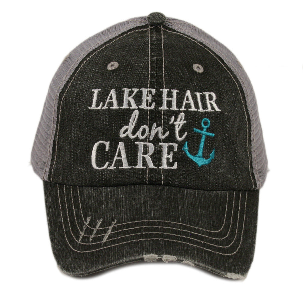 lake hair don't care womens distressed hat