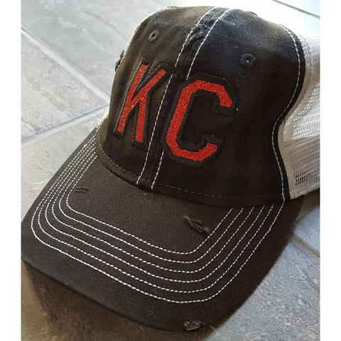 KC Black hat w/ Red KC