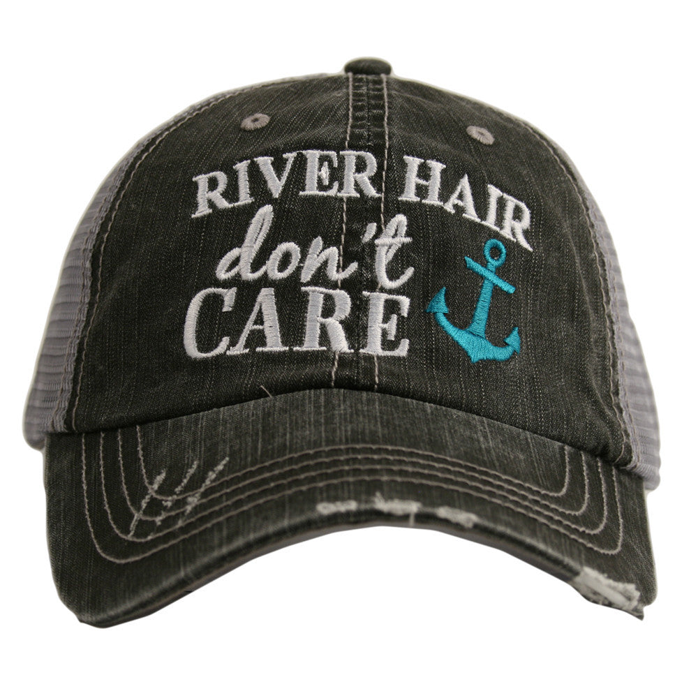 Women's River hair don't care distressed hat. Mesh back, AdjustableFree shipping!