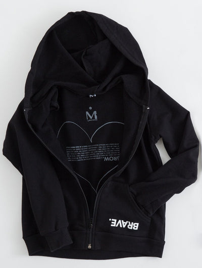 Brave. Girls Zip Pocket Hoodie