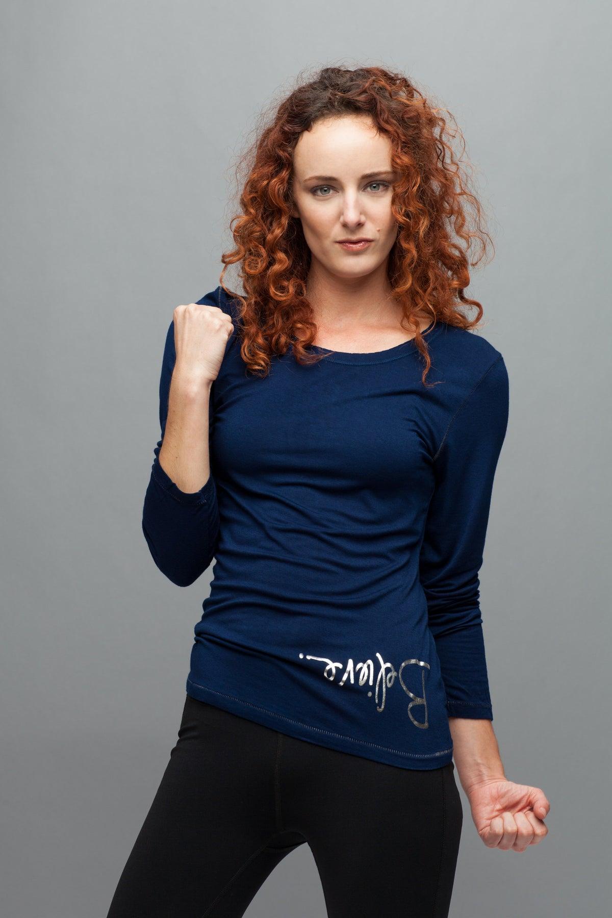 BELIEVE. Women's Bamboo Long Sleeve Tee