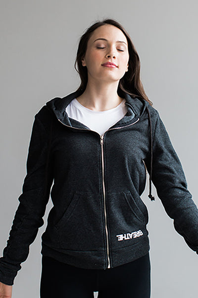 BREATHE. Unisex Zip Pocket Hoodie