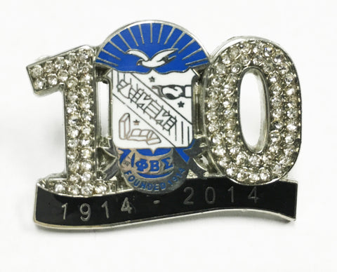 100 Years w/ Shield Lapel Pin