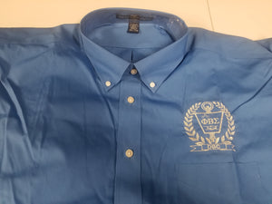 DSC Solid Blue Dress Shirt