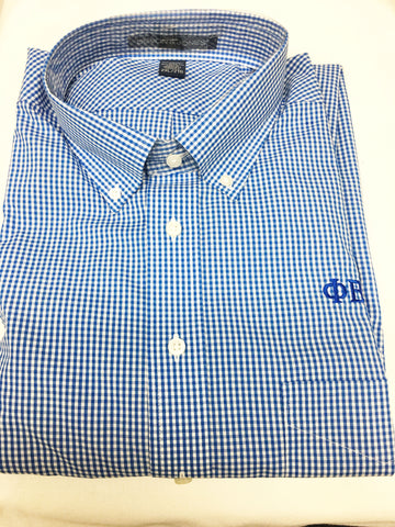 PBS Checkered Button Down