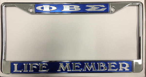 "Phi Beta Sigma ""Life Member"" License Frame"