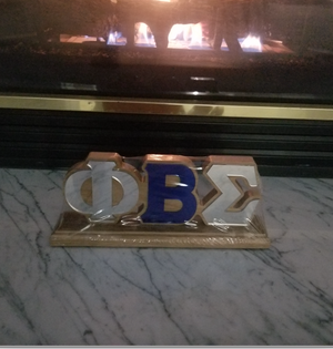 Greek Letter Desk Topper