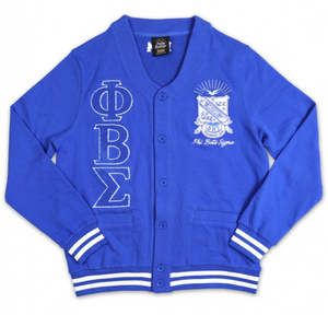 Greek Ltr Cardigan Royal