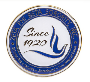 Zeta Seal 3-D Color Pin
