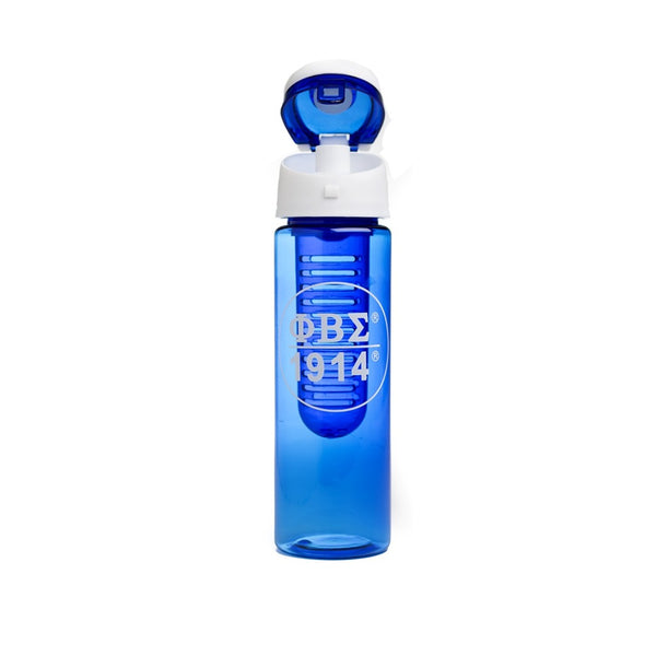 Blue & White Water Bottle