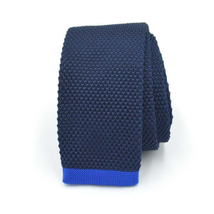 Knitted Blueberry Taffy Tie