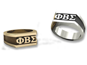 Rectangular Logo Ring