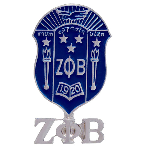 Zeta Shield Lapel Pin