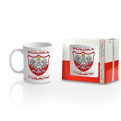 Polish Ceramic White Eagle Mug - Taste of Poland