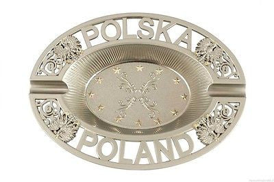 Polska - Poland Frosted Metal Eagle Ashtray - Taste of Poland  - 1