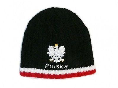 Knitted Polska Winter Hat with White Eagle - Taste of Poland  - 1