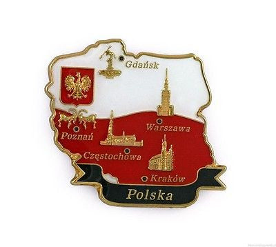 Polish Metal Magnet - Map of Poland - Taste of Poland