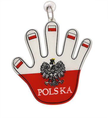 Polska Eagle Car Window Hanger Cheering Mitt - Taste of Poland  - 1