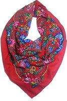 Traditional Polish Folk Head Scarf - Red - Taste of Poland  - 1