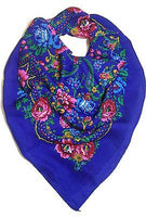 Traditional Polish Folk Head Scarf - Blue - Taste of Poland  - 1