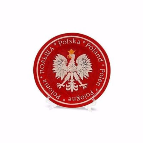 Hand Painted Ceramic Polska Eagle Plate - Taste of Poland  - 1