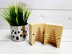 Traditional Christmas Tree Wooden Butter Mold