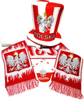 Poland Soccer Fan Accessory Set: Scarf, Hat, Trumpet, Hand - Taste of Poland  - 1