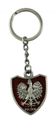 Polska Eagle Crest Metal Keychain - Taste of Poland