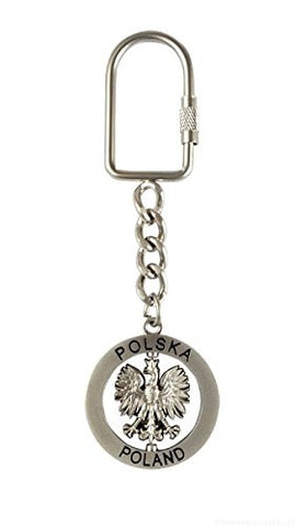 Polska Eagle Metal Spinner Keychain - Taste of Poland