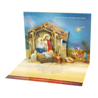 Large Traditional 3D Pop-Up Polish Christmas Greeting Card with Nativity Creche Stable