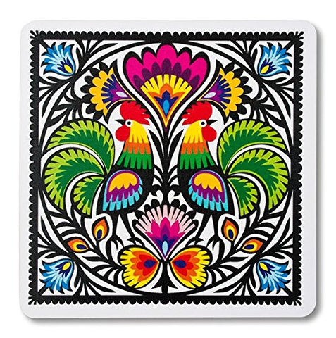 Polish Folk Art Roosters Mouse Pad - Taste of Poland